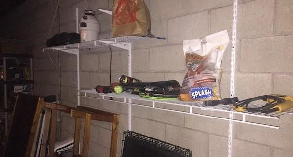 Messy Garage Shelves