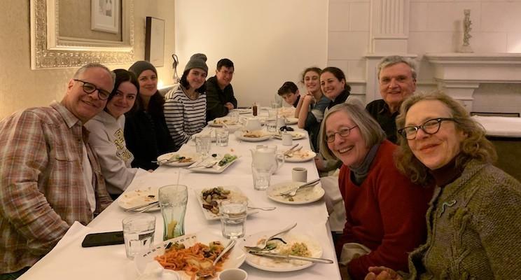 Extended Family Eating Dinner